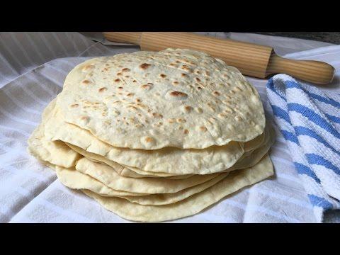 Tortillas de harina de trigo muy fáciles para fajitas, burritos, quesadillas...