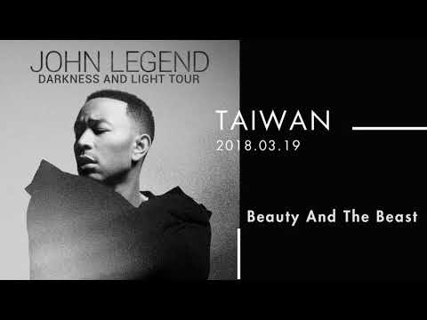 180319 John Legend - Beauty And The Beast   Darkness And Light Live Tour in Taiwan