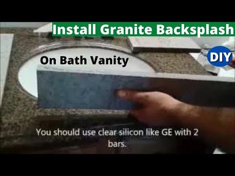 Step by Step How to Install Granite Backsplash and Sidesplash On Bath Vanity