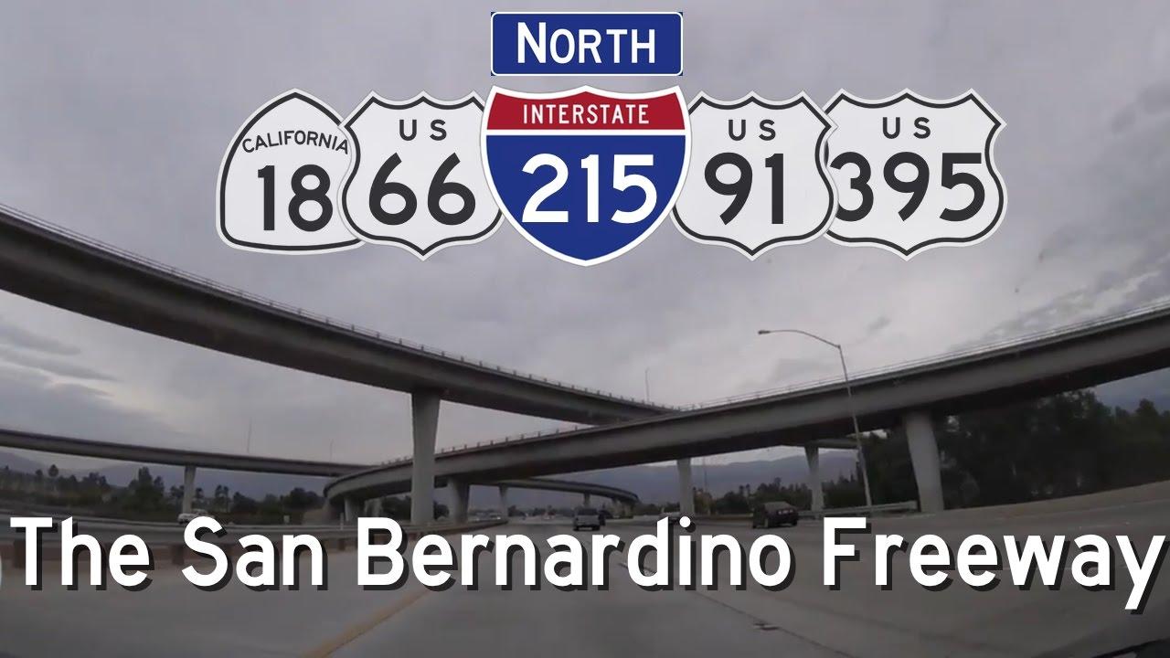 I-215 North - The San Bernardino Freeway, Part Three  I-10 to SR 210, Exits  40 - 46C
