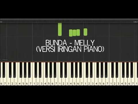 Karaoke Bunda Melly Goeslaw Do=C (Virtual Piano Synthesia)