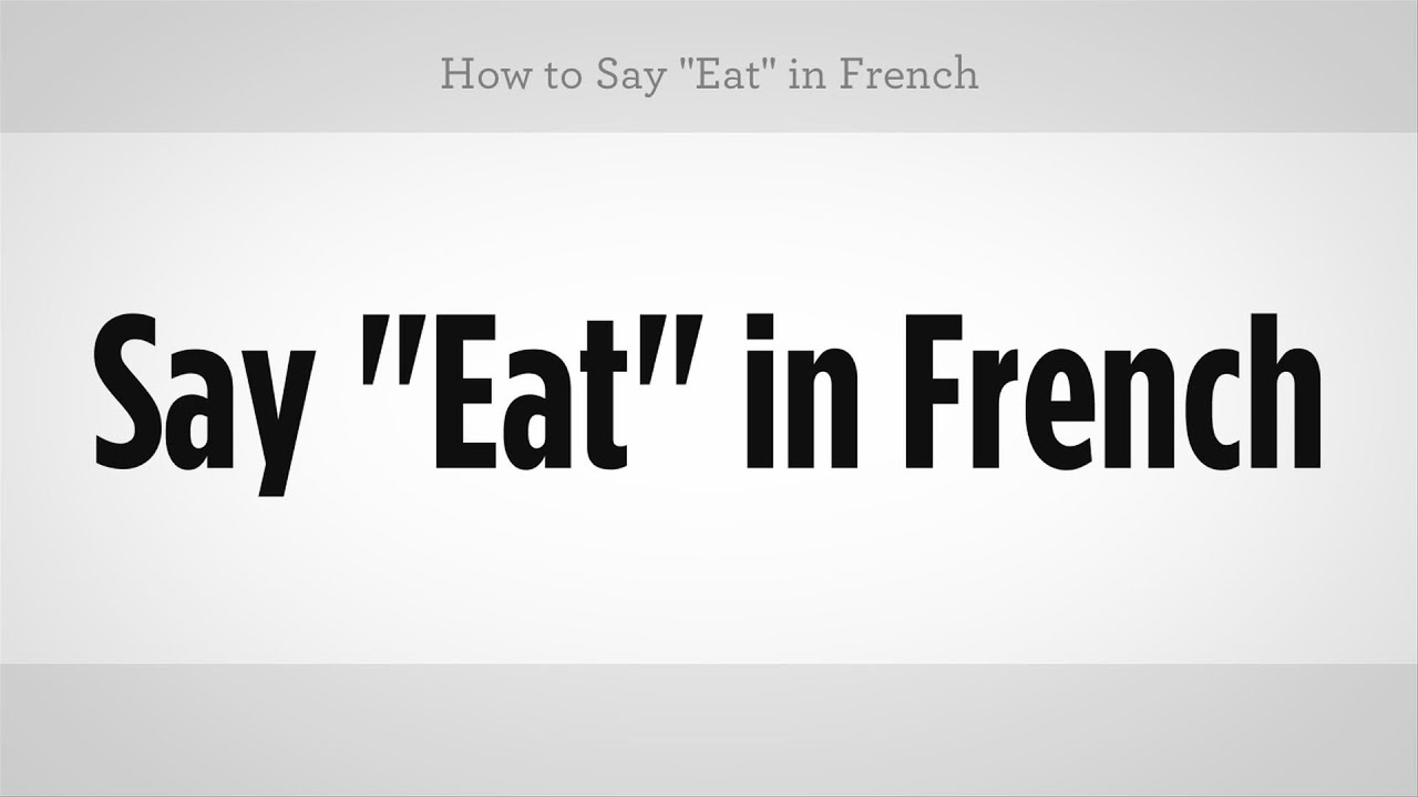 how to say bring in french