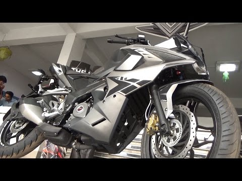 NEW 2017 COLLECTION LASER EDGED BS IV BAJAJ PULSAR RS 200 WITH ABS AND AHO WALK AROUND REVIEW