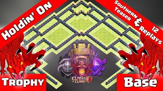 ✅Clash Of Clans: MLG TH9 TROPHY PUSH BASE - HOLDIN' ON + A CRAZY AMOUNT OF REPLAYS