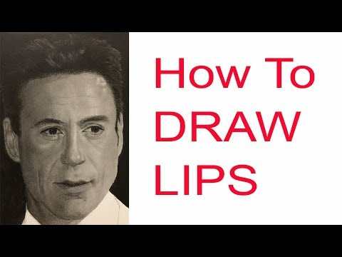 Drawing the Mouth Lips | Time-Lapse Tutorial taken from Live Stream