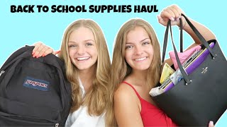 Back to School Supplies Haul 2020 ~ What's In Our Backpack ~ Jacy and Kacy