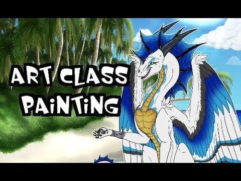 [ART CLASS] Oceanside Island Painting