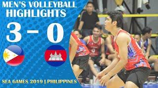 Highlights   Philippines Vs Cambodia   Men's Volleyball   Sea Games 2019   Dec 02, 2019