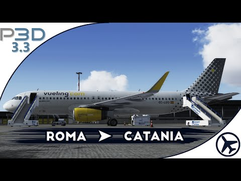 [P3D 3.3] AS A320 | Roma - Catania [IVAO]