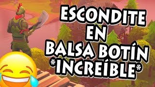 PLAYING THE ESCONDITE IN BALSA BUTTON GOD MIO AS THEY HIDE FORTNITE