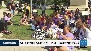 Students stage sit-in at Queen's Park