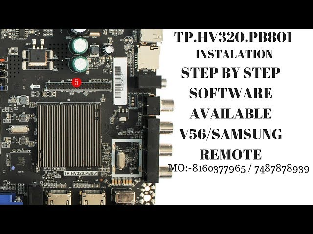 TP.HV320.PB801 INSTALATION STEP BY STEP AND SOFTWARE AVAILABLE