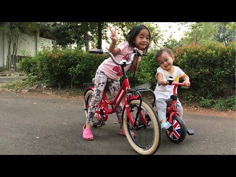 Sejuknya Main Sepeda di Pagi Hari   Zara Olah Raga Sepeda dan Kenzo belajar Naik Sepeda