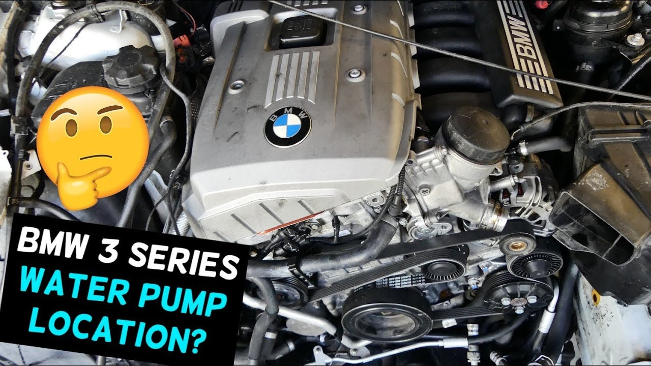 BMW E90 E91 E92 E93 WATER PUMP LOCATION 323i 325i 328i 330i 335i 325xi  328xi 330xi