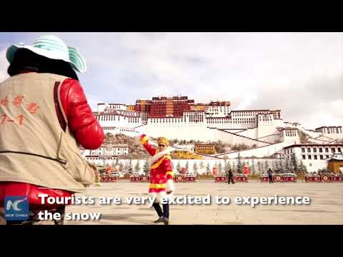Snow adds beauty to Lhasa