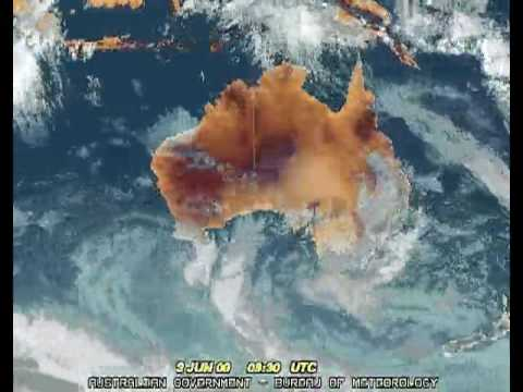 Australia Infrared weather satellite 4 months time lapse.