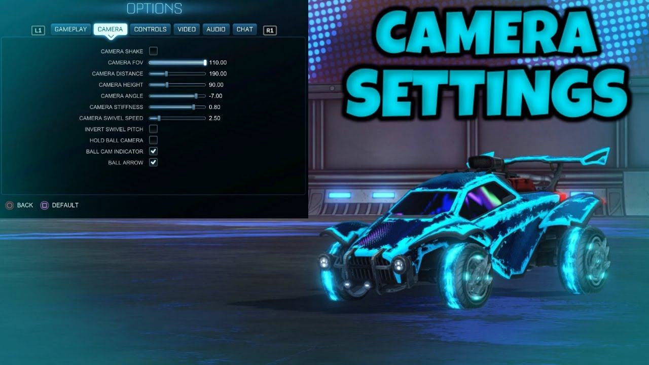 My Camera Settings in Rocket League - YouTube