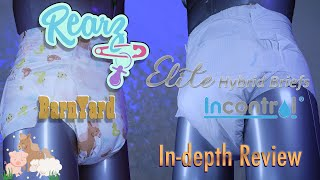 Rearz  Elite Hybrid #adultdiaper #Barnyard® and #Incontrol® In Depth review