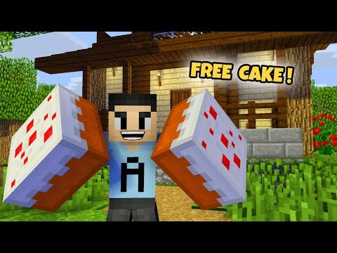 FUNNY MINECRAFT ANIMATION VIDEO | FREE CAKE! | ALSA HONGGO