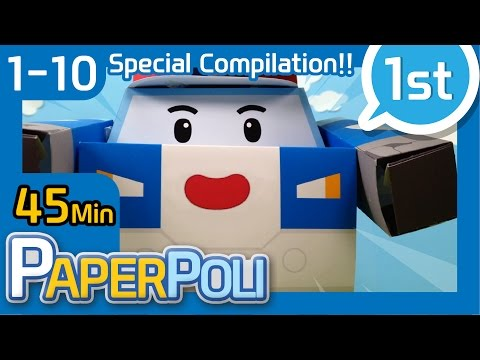 #Special compilation 1 - Popular video | Paper POLI [PETOZ] | Robocar Poli Special