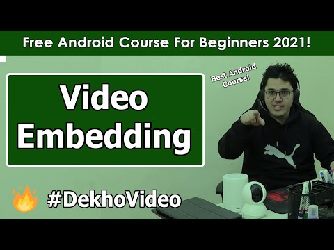 Embedding Video with media controls in Android | Android Tutorials in Hindi #9 thumbnail