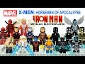X-Men Horsemen of Apocalypse & Electroplated Metallic Iron Man Armory Unofficial LEGO Minifigure Set