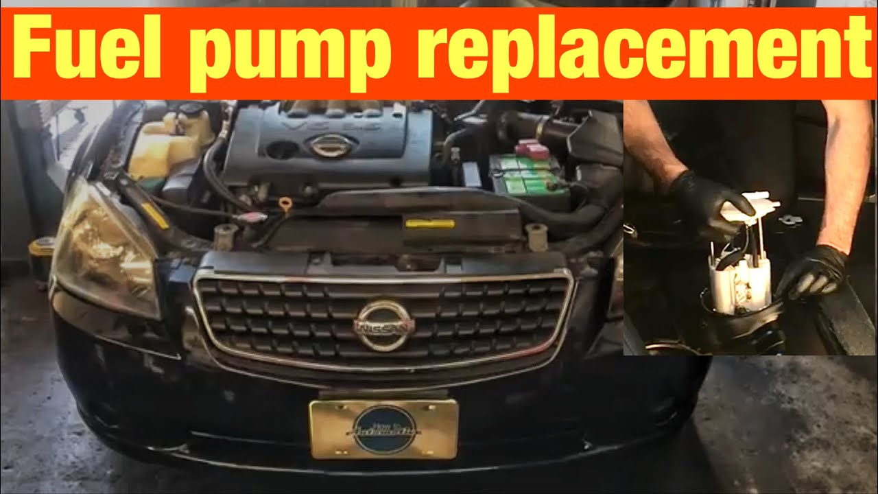 how to replace the fuel pump on a 2001 2006 nissan altima youtubehowtoautomotive autorepair [ 1280 x 720 Pixel ]