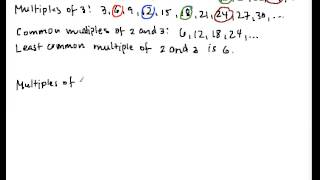 LCM1 Least Common Multiple Part 1