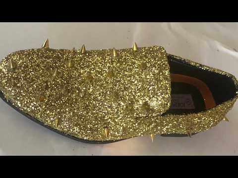 diy:-glitter-gold-spike-shoes