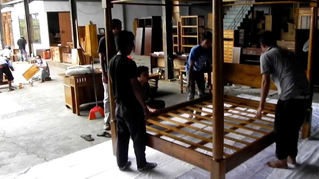 Himmelbett Bali Möbel - YouTube