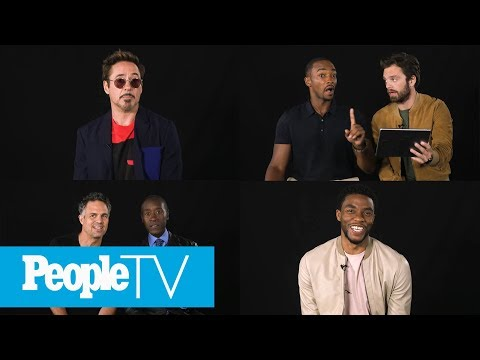 Kids Interview The Avengers: Chadwick Boseman, Robert Downey Jr., Sebastian Stan & More | PeopleTV
