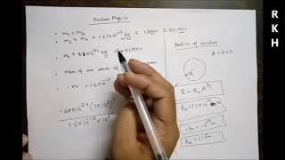 Nuclear Physics Lecture. 1 for JEE mains