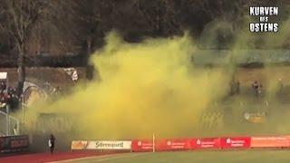 VFC Plauen 1:1 FC Carl Zeiss Jena 22.02.2014 | Pyro