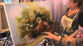 "Видеоурок Сахарова ""Как научиться рисовать ромашки"" живопись для начинающих, уроки рисования"