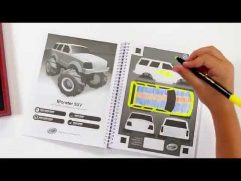 Crayola Virtual Design Pro Car Collection Demo Youtube