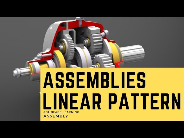 Learn how to use 3D Modeling Software - 35 - Assemblies  Linear Pattern