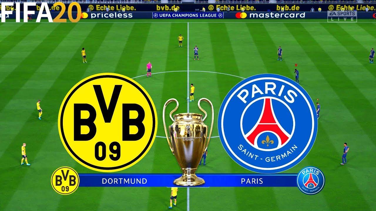 FIFA 20 | Borussia Dortmund vs PSG - UEFA Champions League - Full Match & Gameplay