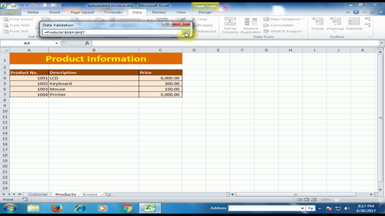 Free Invoicing System Pdf Excel Tips And Tricks  How To Create Automated Invoice In  House Rent Receipts For Income Tax with Invoice Tracker Word Excel Tips And Tricks  How To Create Automated Invoice In Microsoft Excel Rent Receipt Printable Word