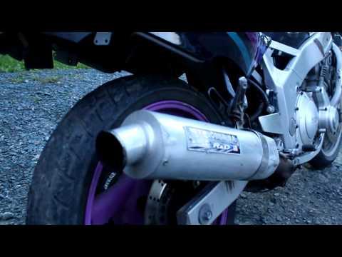 Yamaha FZR600 start up and rev