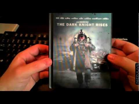 Batman The Dark Knight Rises Blu-ray Unboxing Target Exclusive Digibook 3D Cover Comic Book