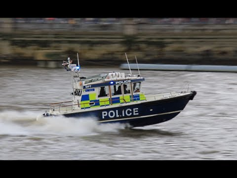 Marine Policing Unit responding along the River Thames