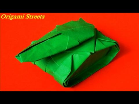 Как сделать танк из бумаги. Оригами  танк