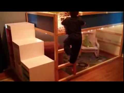 IKEA KURA Bedroom Transformation Reaction YouTube