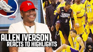 Allen Iverson Reacts To Allen Iverson Highlights! | The Reel