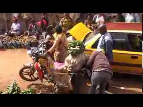 Food market in Bamenda Cameroon
