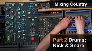 Mixing A Country Song (2 of 8) - Kick & Snare - Dan Wesley (Mixed by the Twangmeister)