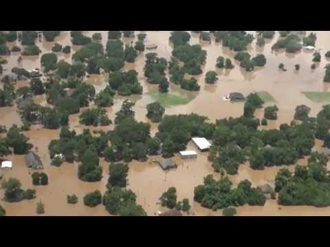 2016 Brazos River Flood Aerial Video