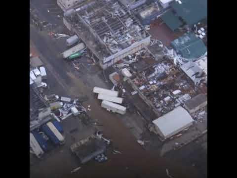 Ouragan Irma: survol de Saint-Martin, dévastée
