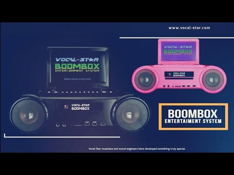 Vocal-Star Boombox Portable Karaoke Machine CD/DVD Player Product Video