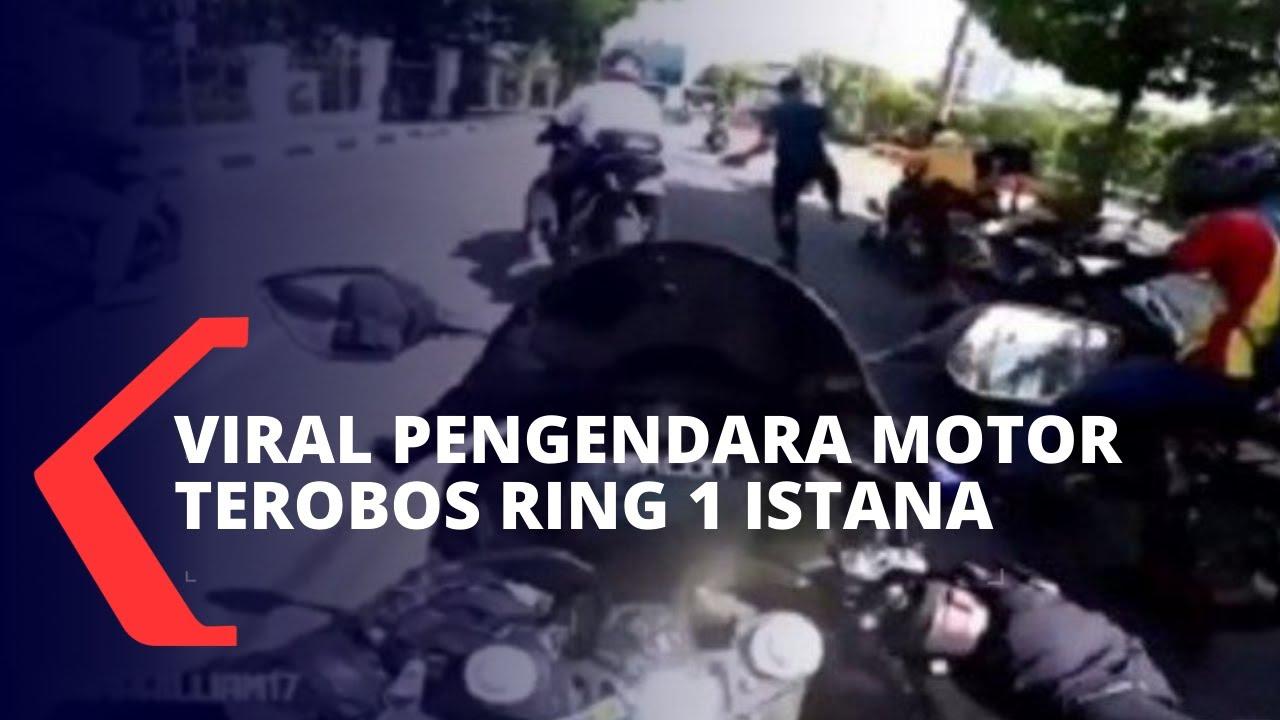 Download Viral Aksi Pengendara Motor Terobos Ring 1 Istana hingga Ditindak Paspampres
